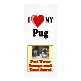 I Love (Heart) My Pug Dog Rack Card