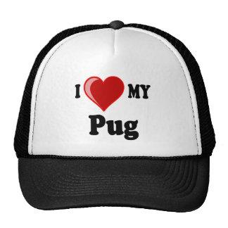 I Love (Heart) My Pug Dog Trucker Hat