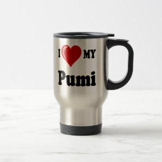 I Love (Heart) My Pumi Dog Travel Mug