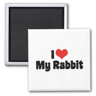 I Love Heart My Rabbit Magnet