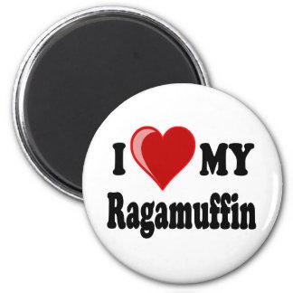 I Love (Heart) My Ragamuffin Cat Fridge Magnets
