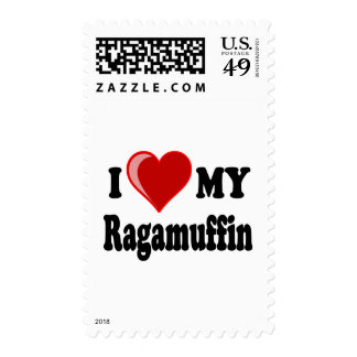 I Love Heart My Ragamuffin Cat Postage Stamps
