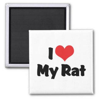 I Love Heart My Rat Magnet