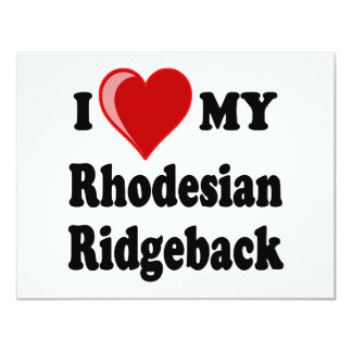 I Love (Heart) My Rhodesian Ridgeback Dog Card