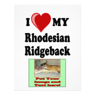I Love (Heart) My Rhodesian Ridgeback Dog Flyer
