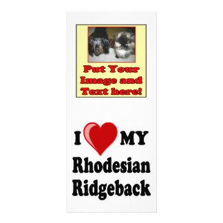 I Love (Heart) My Rhodesian Ridgeback Dog Rack Card