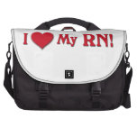 I LOVE (HEART) MY RN VALENTINE NURSE LAPTOP MESSENGER BAG