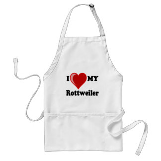I Love (Heart) My Rottweiler Water Dog Adult Apron