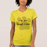I Love (Heart) My Rough Collie Pawprint T-Shirt
