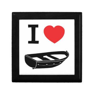 I love heart my rowing row boat trinket box