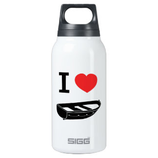 I love heart my rowing / row boat insulated water bottle