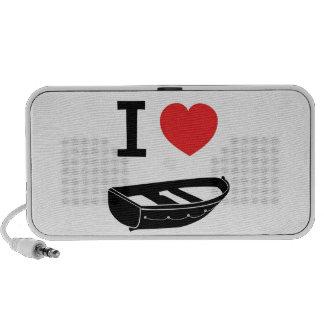 I love heart my rowing row boat mp3 speakers