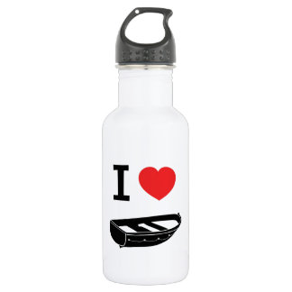 I love heart my rowing / row boat water bottle
