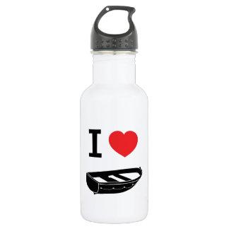 I love heart my rowing / row boat water bottle
