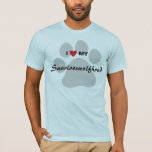 I Love (Heart) My Saarlooswolfhond T-Shirt