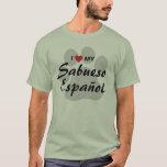 I Love (Heart) My Sabueso Español T-Shirt