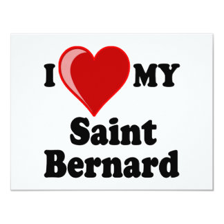 I Love (Heart) My Saint Bernard Dog Card