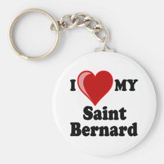 I Love (Heart) My Saint Bernard Dog Key Chains