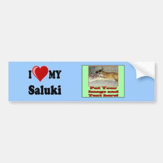 I Love (Heart) My Saluki Dog Bumper Sticker