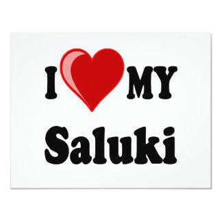 I Love (Heart) My Saluki Dog Card
