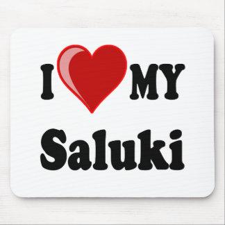 I Love (Heart) My Saluki Dog Mouse Pad