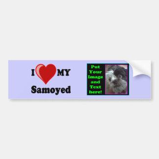 I Love (Heart) My Samoyed Dog Bumper Sticker