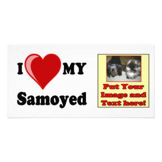 I Love (Heart) My Samoyed Dog Card