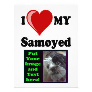 I Love (Heart) My Samoyed Dog Flyer