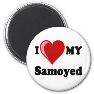 I Love (Heart) My Samoyed Dog Magnet