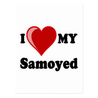 I Love (Heart) My Samoyed Dog Postcard