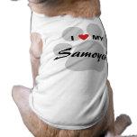 I Love (Heart) My Samoyed Pawprint Shirt