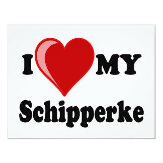 I Love (Heart) My Schipperke Dog Card