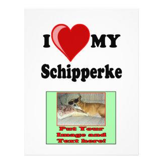 I Love (Heart) My Schipperke Dog Personalized Flyer