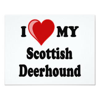 I Love (Heart) My Scottish Deerhound Dog Card