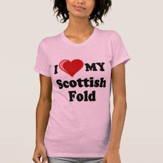 I Love (Heart) My Scottish Fold Cat T Shirts