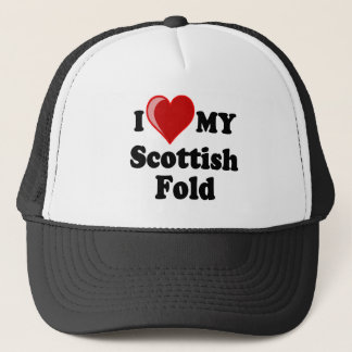 I Love (Heart) My Scottish Fold Cat Trucker Hat
