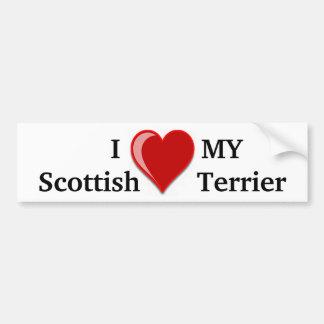 I Love (Heart) My Scottish Terrier Dog Gifts Car Bumper Sticker