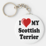 I Love (Heart) My Scottish Terrier Dog Gifts Key Chains