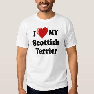 I Love (Heart) My Scottish Terrier Dog Gifts T-shirt