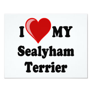 I Love (Heart) My Sealyham Terrier Dog Gifts Card