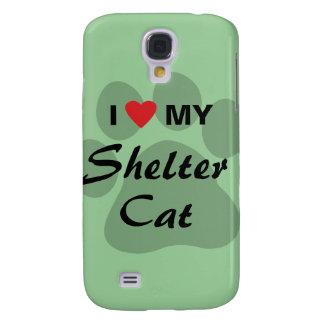 I Love (Heart) My Shelter Cat Samsung Galaxy S4 Case