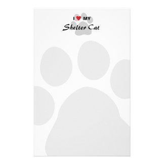 I Love Heart My Shelter Cat Stationery