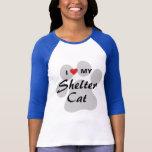 I Love (Heart) My Shelter Cat T-Shirt