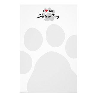 I Love Heart My Shelter Dog Stationery