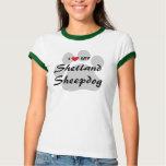 I Love (Heart) My Sheltland Sheepdog T-Shirt
