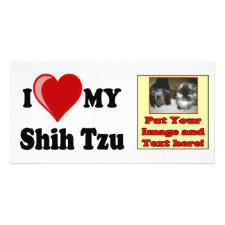 I Love (Heart) My Shih Tzu Dog Card