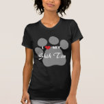 I Love (Heart) My Shih Tzu Pawprint T-Shirt