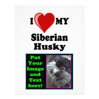 I Love (Heart) My Siberian Husky Dog Flyer