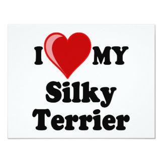 I Love (Heart) My Silky Terrier Dog Card