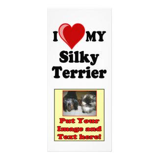 I Love Heart My Silky Terrier Dog Custom Rack Card